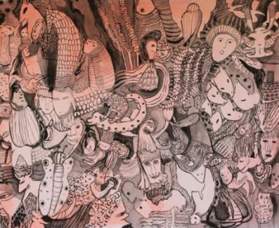 Luis Silveirinha, O Teatro, em exposição na Galeria Alecrim 50, Lisboa, 2013.