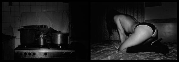 Paulo Nozolino, Napoli, 2013. Díptico. Prova em brometo de prata sobre alumínio. 80 x 245 cm. Edição de 3