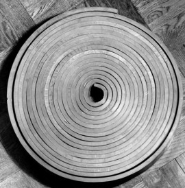 Richard Serra, Untitled 1968, Lead, 2 inches (5.1 cm) high, 21 inches, (53.3 cm) diameter,Private Collection.