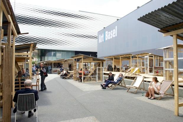 Tadashi Kawamata | Favela Café, 2013. Art Basel 2013 | Tadashi Kawamata | Favela Café, 2013. MCH Messe Schweiz (Basel) AG. Courtesy of Art Basel.