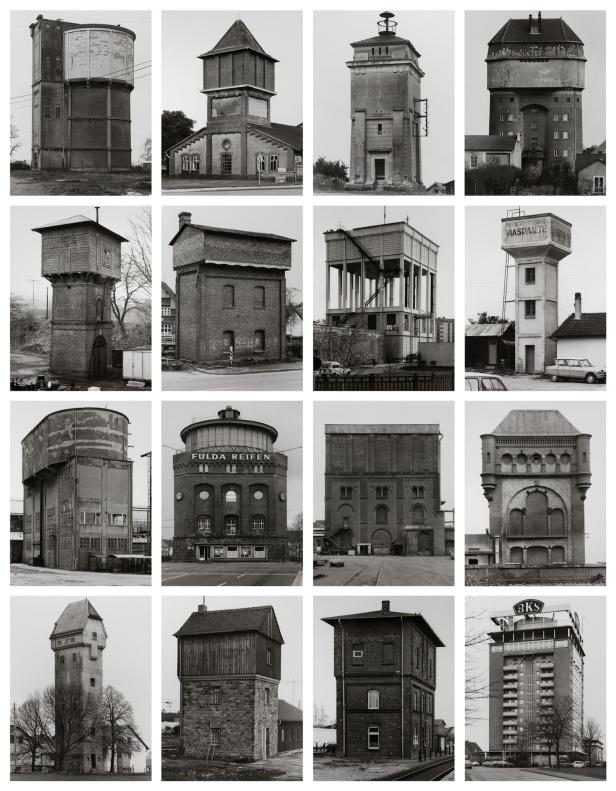 Bernd e Hilla Becher, 'Watertowers' 1988. Museu Coleção Berardo. Cortesia Museu Coleção Berardo.