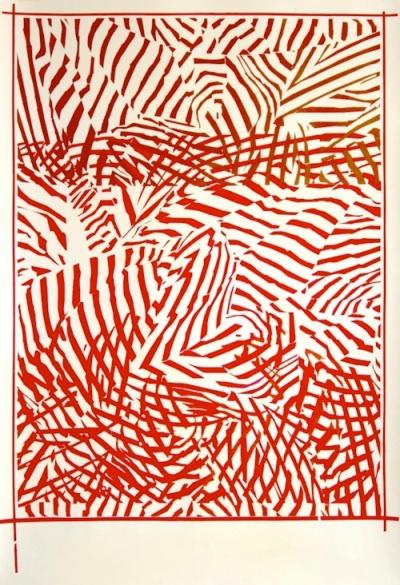 Cristina Lamas, Sem Título, 2013, guache sobre papel, 142 x 101 cm. Cortesia da galeria 111, Lisboa.