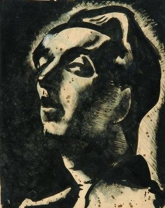 Arpad Szenes, Autoportrait, 1920. Tinta da china sobre papel 30 x 23,7 cm Col. Fundação Arpad Szenes – Vieira da Silva.