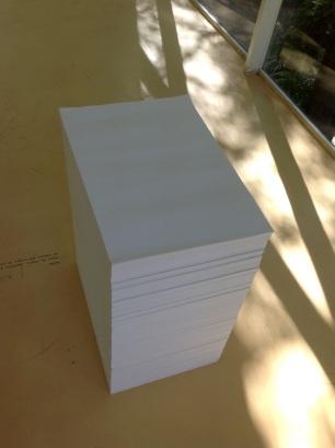 Fernanda Fragateiro e Rui Mendes, exposição R9F6 Branco, Pavilhão Branco, imagem: Papel papel de cópia, depósito das oficinas gráficas da Câmara Municipal de Lisboa, 1980.