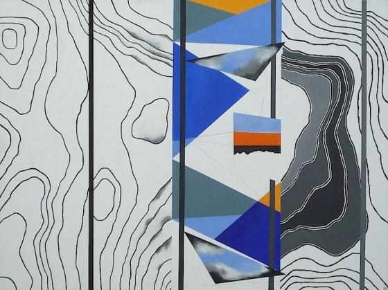 Rui Sanches, da exposição 'Suite Alentejana - pintura' na Galeria Fernando Santos (Porto), 2013. Cortesia da Galeria Fernando Santos.