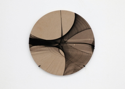 Juliane Solmsdorf, 'Untitled' (SB07), 2011 Nylon, wood, 45x45 cm Installation view Based in Berlin, KW Kunstwerke, Berlin, 2011