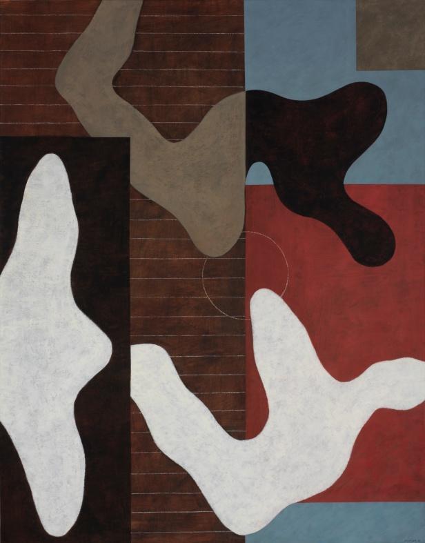 Justino Alves, Da série 'Imagens'. Acrílico sobre papel, sobre tela 146 x 114 cm, 2013. Cortesia do artista e de Bloco 103 -Arte Contemporânea, Lisboa.
