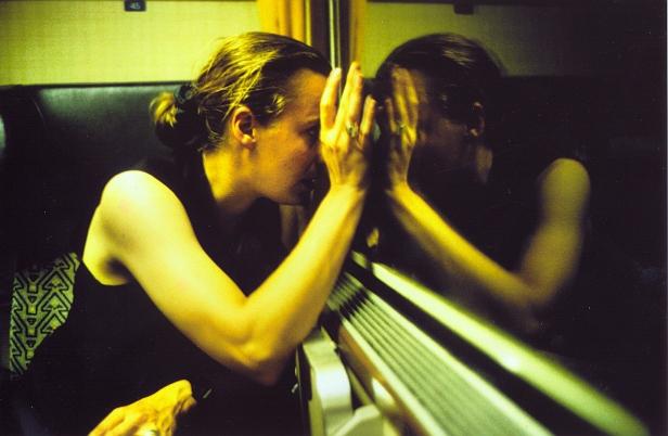 Nan Goldin, 'Christine on the train', Austria, 1993. CAL CEGO. Colección de arte contemporáneo, Barcelona.