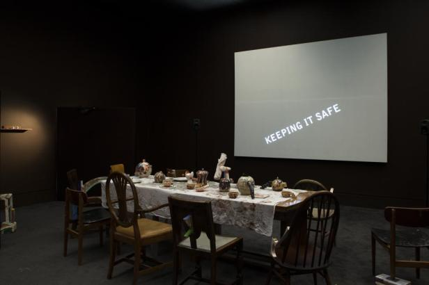 Laure Prouvost Installation view of Wantee in Schwitters in Britian, 2013 at Tate Britian, London Courtesy of the artist and MOTINTERNATIONAL.