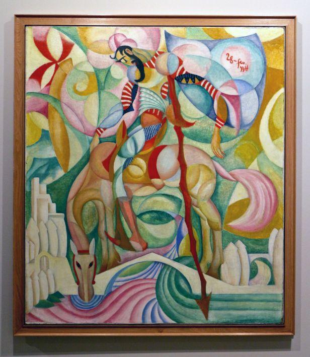 Amadeo de Souza-Cardoso, D. Quixote, 1914. Óleo sobre tela. (Piso -1) Exposição 'Sob o Signo de Amadeo - Um Século de Arte'. CAM-Fundação Calouste Gulbenkian, 2013-2014.