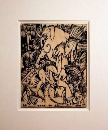 Amadeo de Souza-Cardoso, La Foret Merveilleuse, 1912. Tinta-da-china e guache sobre papel. (Piso -1) Exposição 'Sob o Signo de Amadeo - Um Século de Arte'. CAM-Fundação Calouste Gulbenkian, 2013-2014.