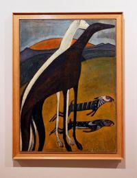 Amadeo de Souza-Cardoso, Lévriers / Os Galgos, 1911. Óleo sobre tela. (Piso -1) Exposição 'Sob o Signo de Amadeo - Um Século de Arte'. CAM-Fundação Calouste Gulbenkian, 2013-2014.