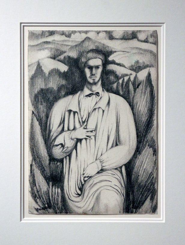 Amadeo de Souza-Cardoso, Retrato Paisagem, 1913. Grafite sobre papel. (Piso -1) Exposição 'Sob o Signo de Amadeo - Um Século de Arte'. CAM-Fundação Calouste Gulbenkian, 2013-2014.