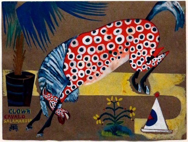 Amadeo de Souza-Cardoso, Título desconhecido (Clown, Cavalo, Salamandra), 1911-1912. (Piso -1) Exposição 'Sob o Signo de Amadeo - Um Século de Arte'. CAM-Fundação Calouste Gulbenkian, 2013-2014.