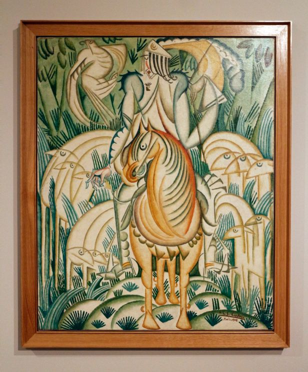 Amadeo de Souza-Cardoso, Le Prince et la Meute [O Princípe e a Matilha], 1921. Óleo sobre tela. (Piso -1) Exposição 'Sob o Signo de Amadeo - Um Século de Arte'. CAM-Fundação Calouste Gulbenkian, 2013-2014.