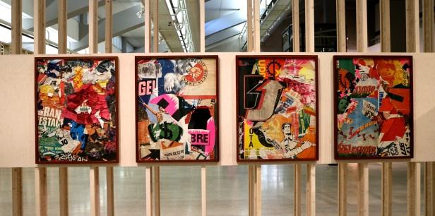 Ana Hatherly, As Ruas de Lisboa, 1977. (nave) Exposição 'Sob o Signo de Amadeo - Um Século de Arte'. CAM-Fundação Calouste Gulbenkian, 2013-2014.