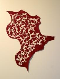 Ana Jotta, Heraldica, 2000. (nave) Exposição 'Sob o Signo de Amadeo - Um Século de Arte'. CAM-Fundação Calouste Gulbenkian, 2013-2014.