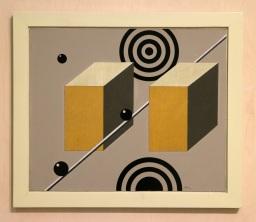 António Areal, Quadro Chamado o Mês de Marte, 1966. (nave) Exposição 'Sob o Signo de Amadeo - Um Século de Arte'. CAM-Fundação Calouste Gulbenkian, 2013-2014.