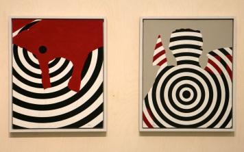 António Areal, S/Título (ES19) e S/Título (ES13), 1966. (nave) Exposição 'Sob o Signo de Amadeo - Um Século de Arte'. CAM-Fundação Calouste Gulbenkian, 2013-2014.