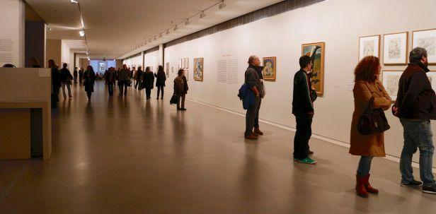 Vista geral da (Galeria -1) Exposição 'Sob o Signo de Amadeo - Um Século de Arte'. CAM-Fundação Calouste Gulbenkian, 2013-2014.