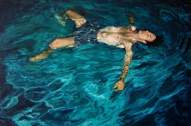 Arlindo Silva, Marco na piscina do André, exposição 'Coração e Cinzas' no Centro Cultural Vila Flor, Guimarães.