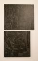 Pedro Calapez, Cena Satírica, 1996. Alkyd sobre contraplacado. (Piso 1) Exposição 'Sob o Signo de Amadeo - Um Século de Arte'. CAM-Fundação Calouste Gulbenkian, 2013-2014.