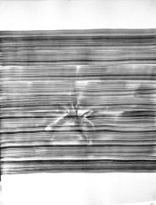 Rui Horta Pereira, MOIRE #31, tinta da china sobre papel, 70x50cm, 2010 ( inédito. Cortesia do artista.