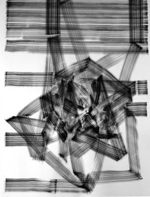 Rui Horta Pereira, MOIRE #12, tinta da china sobre papel, 70x50cm, 2010 ( inédito). Cortesia do artista.