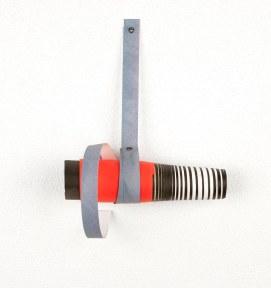Rui Horta Pereira, REMANESCENTE ( Esculturas), #04, acrílico sobre papel e ilhoses,18x14x13, 2011. Cortesia do artista.. Cortesia do artista.