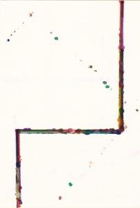 Rui Horta Pereira, DÉBITO, # 8 (3ªp), Tinta sobre papel, 21x15cm, 2011. Cortesia do artista.