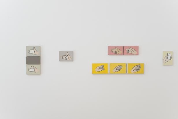 Pedro Casqueiro, Conjunto de obras de 1996 (vista da exposição na Culturgest Porto, 2012) Fotografia: DMF, Lisboa.