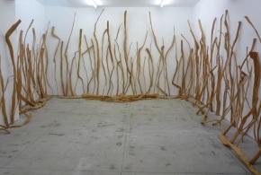 Alberto Carneiro, 'Sobre o fogo', exposição na Galeria Fernando Santos, Porto, 2014. Cortesia do artista e Galeria Fernando Santos.