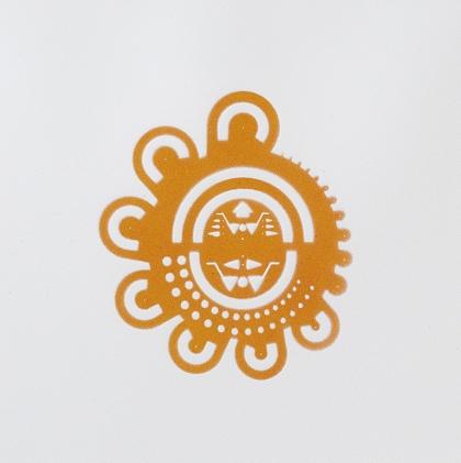 Marlon de Azambuja, FaberCastell 172601, 2014. Pintura spray sobre papel 31x45 cm.