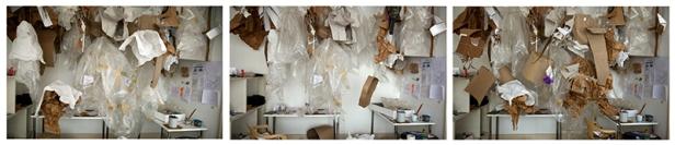 Sara Ramo, Antes, Después, Ahora, 2012. Trípico fotográfico, 2012, 60 x 270cm.