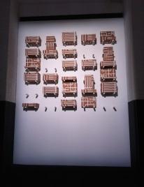 vista da exposição Lei de Ohm no Museu da Eletricidade, Fundação EDP, Lisboa, 2014.