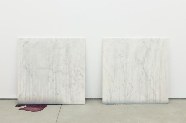 Mauro Cerqueira, vista da exposição 'Gatunar' na Galeria Múrias Centeno, Lisboa, 2014.