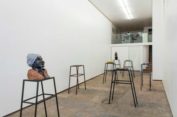 Vista da exposição, Audição das flores, Musa paradisiaca. Cortesia dos artistas e 3+1 Arte Contemporânea, Lisboa.