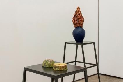 Vista da exposição (detalhe), Audição das flores, Musa paradisiaca Foto: Foto: Cortesia dos artistas e 3+1 Arte Contemporânea, Lisboa