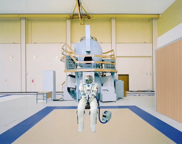 Edgar Martins, Pressurised Sokol suit by Soyuz training module, Yuri Gagarin Cosmonaut Training Centre (Star City, Russia) from the series The Rehearsal of Space & The Poetic Impossibility to Manage the Infinite © Edgar Martins