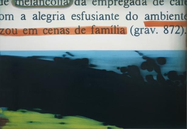 ANA LUÍSA RIBEIRO, Sem título, 2010, acrílico e óleo s/ tela, 90 x 130 cm. Cortesia do artista e Carlos Carvalho, Arte Contemporânea.