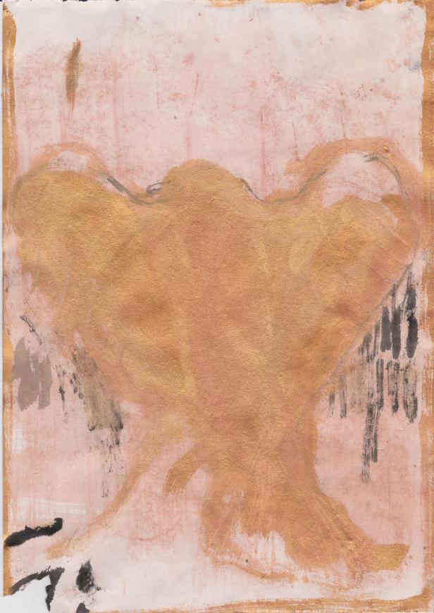 João Ghira Zinho, Estudo s.dv e bronze 2. 20,9 x 29,5 cm. gouache s/ papel. Cortesia de João Ghira Zinho.