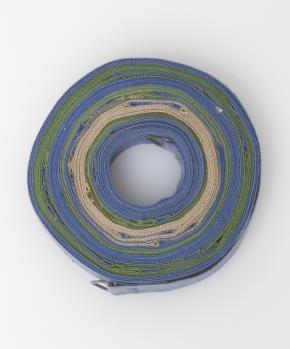 Helen Mirra, Mapa do paralelo 46˚ N a escala de uma polegada por um grau de longitude, 2000, Aguarela sobre algodão • 1,6 x 914,4cm.  Coleção Ann e Marshall Webb, Toronto.