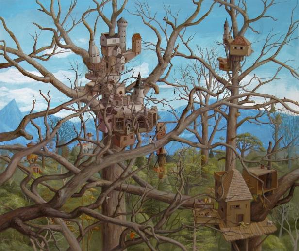 RICARDO ANGÉLICO, Lebensraum XII, 2014, acrílico s/ tela, 143 x 170 cm. Cortesia do artista e Carlos Carvalho, Arte Contemporânea.