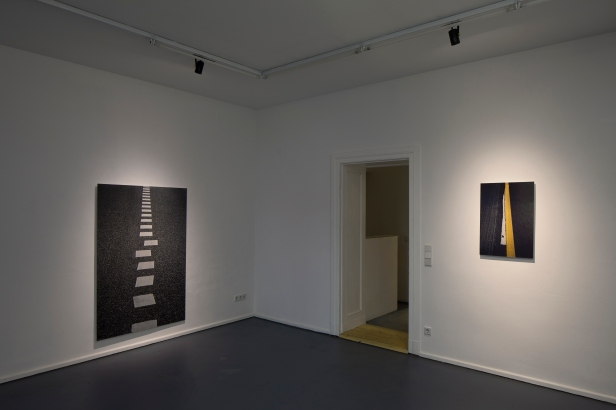Rui Calçada Bastos, vista da exposição 'Passagem de Nível', Invaliden1 galerie, Berlim, 2014. Cortesia do artista e Invaliden1 galerie.