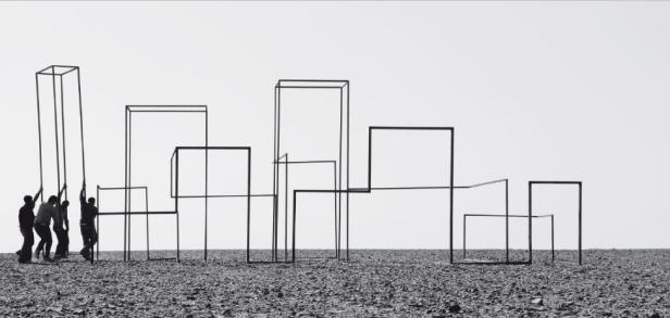 Kiluanji Kia Henda, Rusty Mirage (The City Skyline), 2013. Impressão a jacto de tinta sobre papel de algodão, 8 fotografias, 70 x 100 cm (cada) Ed.1/5 + 1PA/AP. Imagem cortesia do artista e Galeria Filomena Soares.