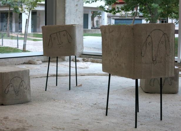 Judith Hopf, On time, 2014, vista da instalação © Lumiar Cité