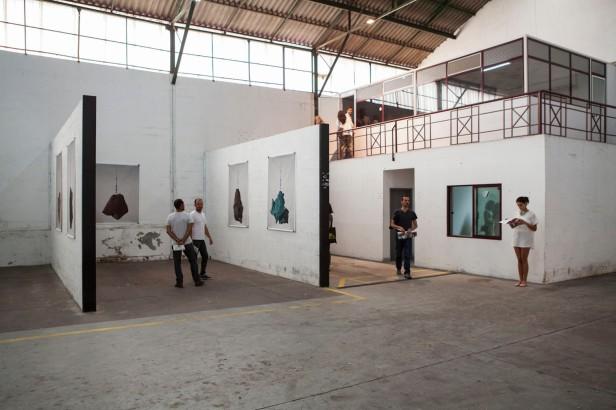 Valter Ventura, Promessa e Resquício, Instalação 2014. . Exposição 'da fábrica que desvanece à baía do tejo'. Fotografia Jorge Graça.