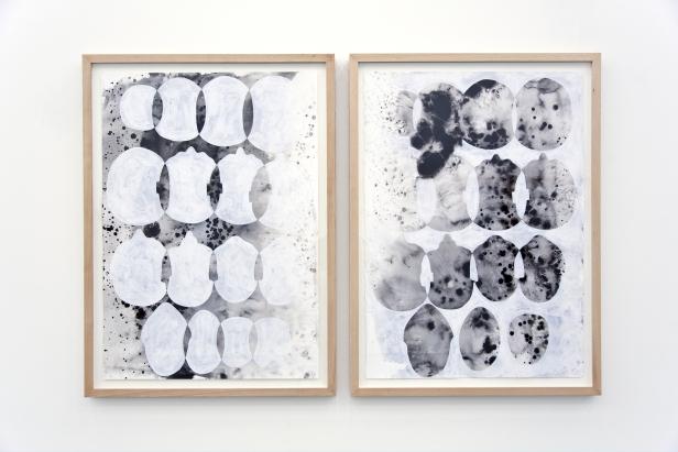 Rui Sanches Sem título, 2013, tinta da china e acrílico sobre papel, 111 x 81 cm.
