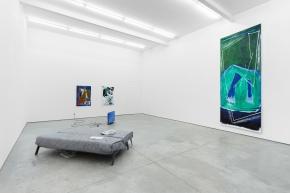 vista da exposição 6:45, Max Ruf, Galeria Múrias Centeno, Lisboa. 2014. Cortesia do artista e Galeria Múrias Centeno.