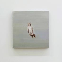 Daniela Krtsch, Sem título #1 (série Heimat), 2014, óleo sobre tela, 30 x 30 cm. Imagem cortesia da artista e 3+1 Arte Contemporânea, Lisboa. Fotografia da exposição: João Ferro Martins.